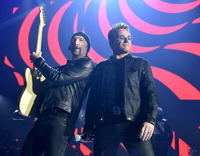 U2 performed at the iHeartRadio festival this weekend, with