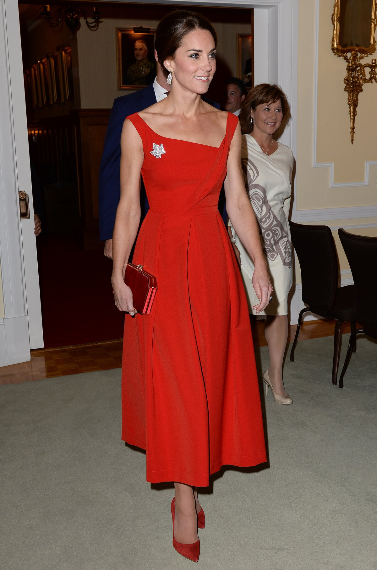 71f824b17f5 Kate Middleton is the dancing lady emoji brought to life in this dramatic red  dress