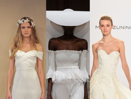 26138460c0e1 We are obsessed with the totally modern bridal jumpsuit trend ...