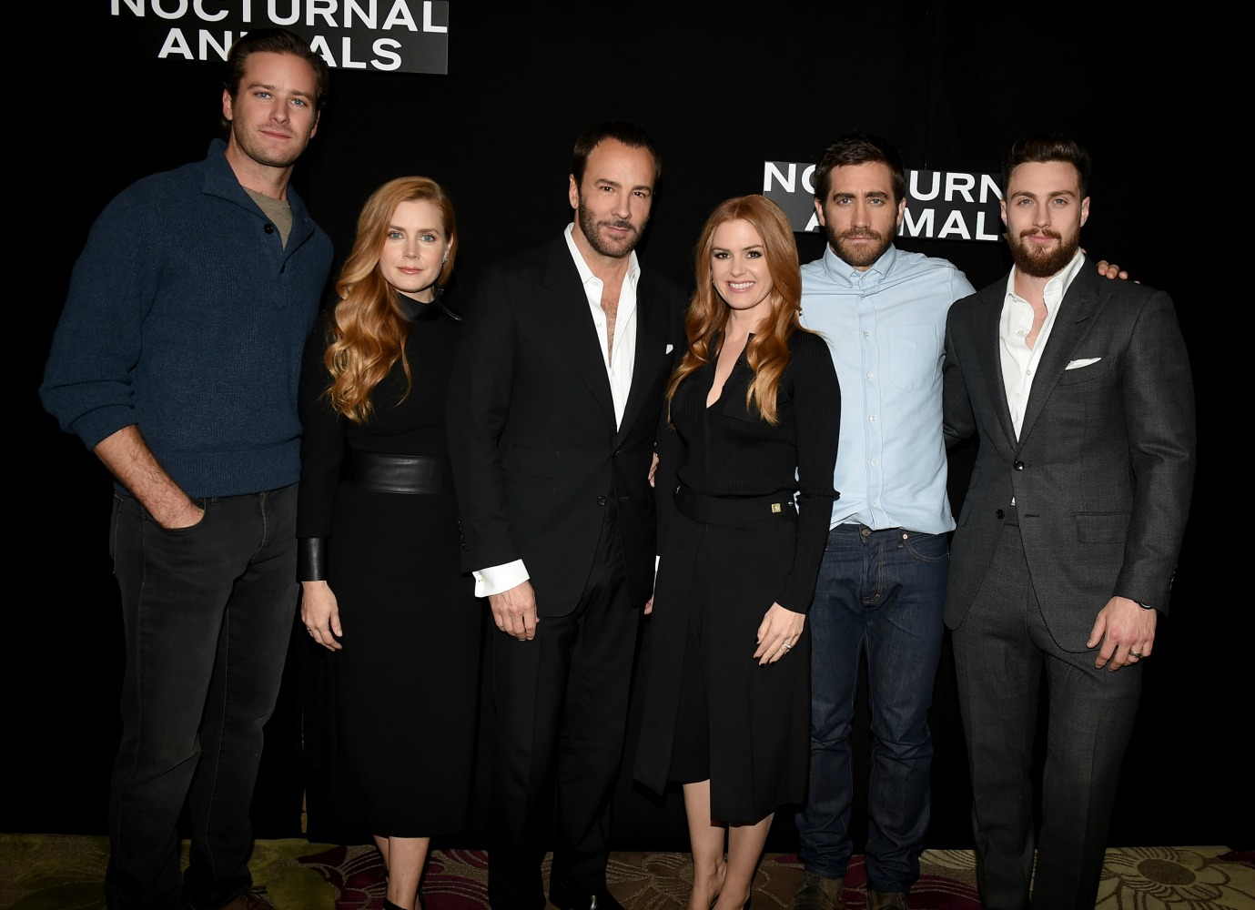 attends the photo call for  Focus Features'  Nocturnal Animals  at Four Seasons Hotel Los Angeles at Beverly Hills on October 28, 2016 in Los Angeles, California.