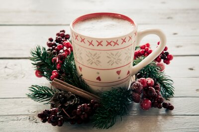 Image result for coffee pictures at christmas