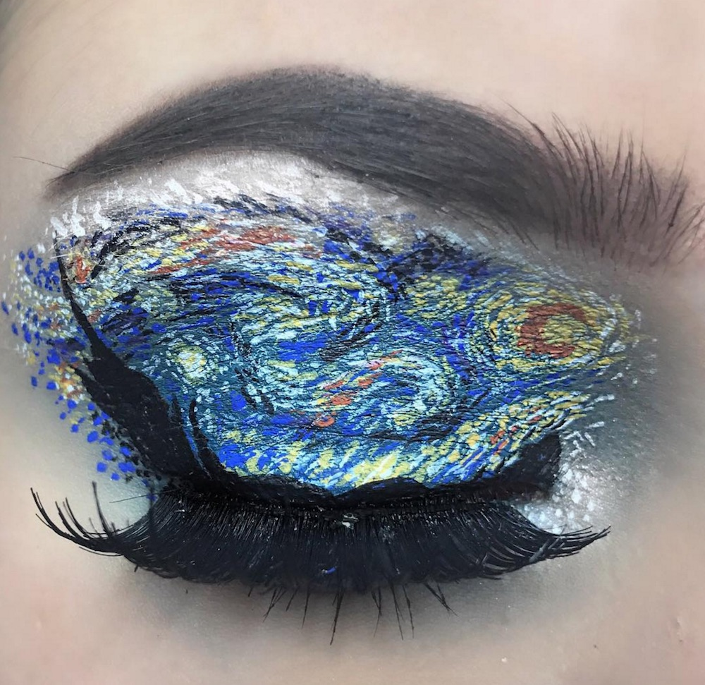 This Instagram makeup artist creates insanely cool eye looks inspired by popular paintings