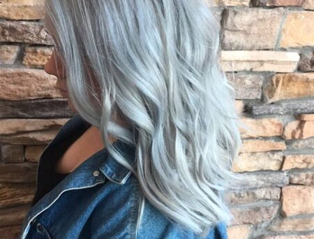 Ombre Hair Silver Blue