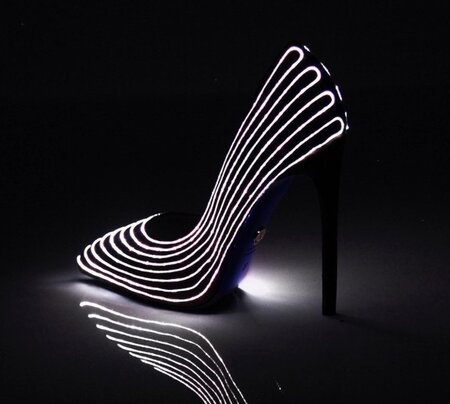 f1c0771d7fb These glow-in-the-dark heels are the glam version of light-up sneakers