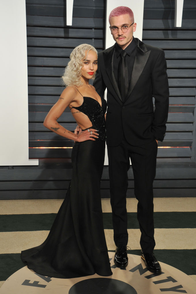 BEVERLY HILLS, CA - FEBRUARY 26:  Actress Zoe Kravitz and Karl Glusman arrive at the 2017 Vanity Fair Oscar Party Hosted By Graydon Carter at Wallis Annenberg Center for the Performing Arts on February 26, 2017 in Beverly Hills, California.  (Photo by Gregg DeGuire/Getty Images)