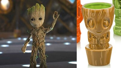 Buy this Baby Groot tiki mug right now, tiny umbrella not