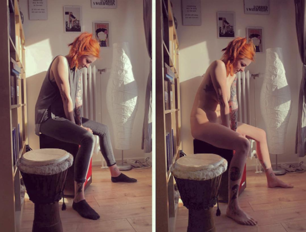 This photographer captures people doing normal activities naked