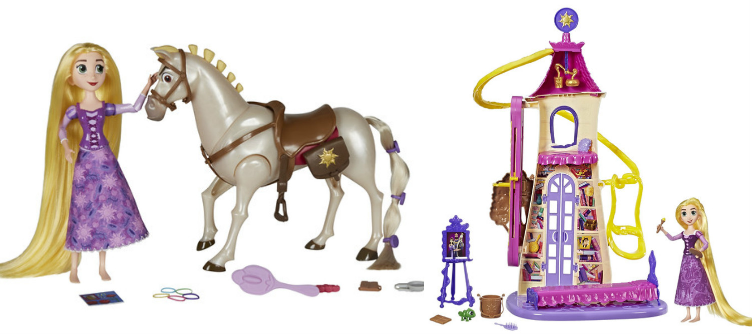 Disney's Tangled: The Series Rapunzel & Royal Horse Maximus 2-Pack and Disney's Tangled: The Series Tangled the Series Swinging Locks Castle Playset