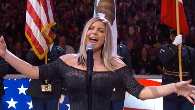 Fergie sang the national anthem, and Twitter has thoughts
