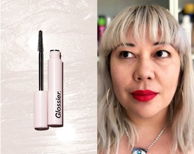70251478fd8 This is what Glossier Lash Slick looks like on my poker-straight lashes