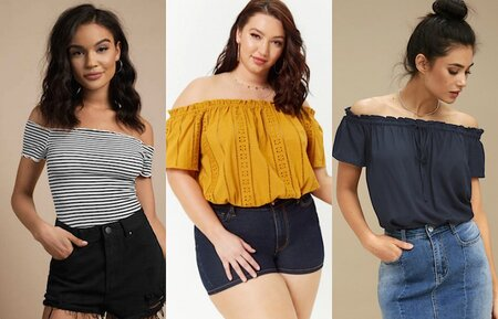 c9b719f002cf67 16 Off-the-Shoulder Tops To Shop When You Have Big Boobs - HelloGiggles