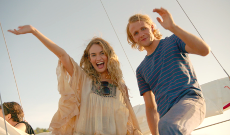 5c7877c42f Lily James takes us through Donna s whirlwind romances in this exclusive  behind-the-scenes clip of Mamma Mia!