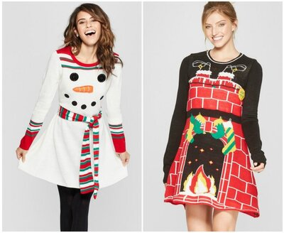 Ugly Christmas Dress.Target Is Selling Ugly Christmas Sweater Dresses For The