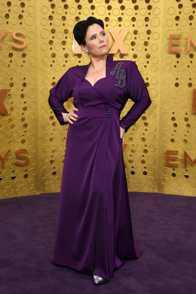 US actress Alex Borstein arrives for the 71st Emmy Awards at the Microsoft Theatre in Los Angeles on September 22, 2019. (Photo by VALERIE MACON / AFP)        (Photo credit should read VALERIE MACON/AFP/Getty Images)