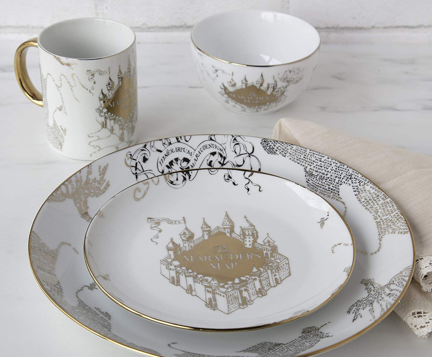 These Harry Potter Marauder's Map dinner sets will make for one magical dinner party—and they're only $30 on Amazon