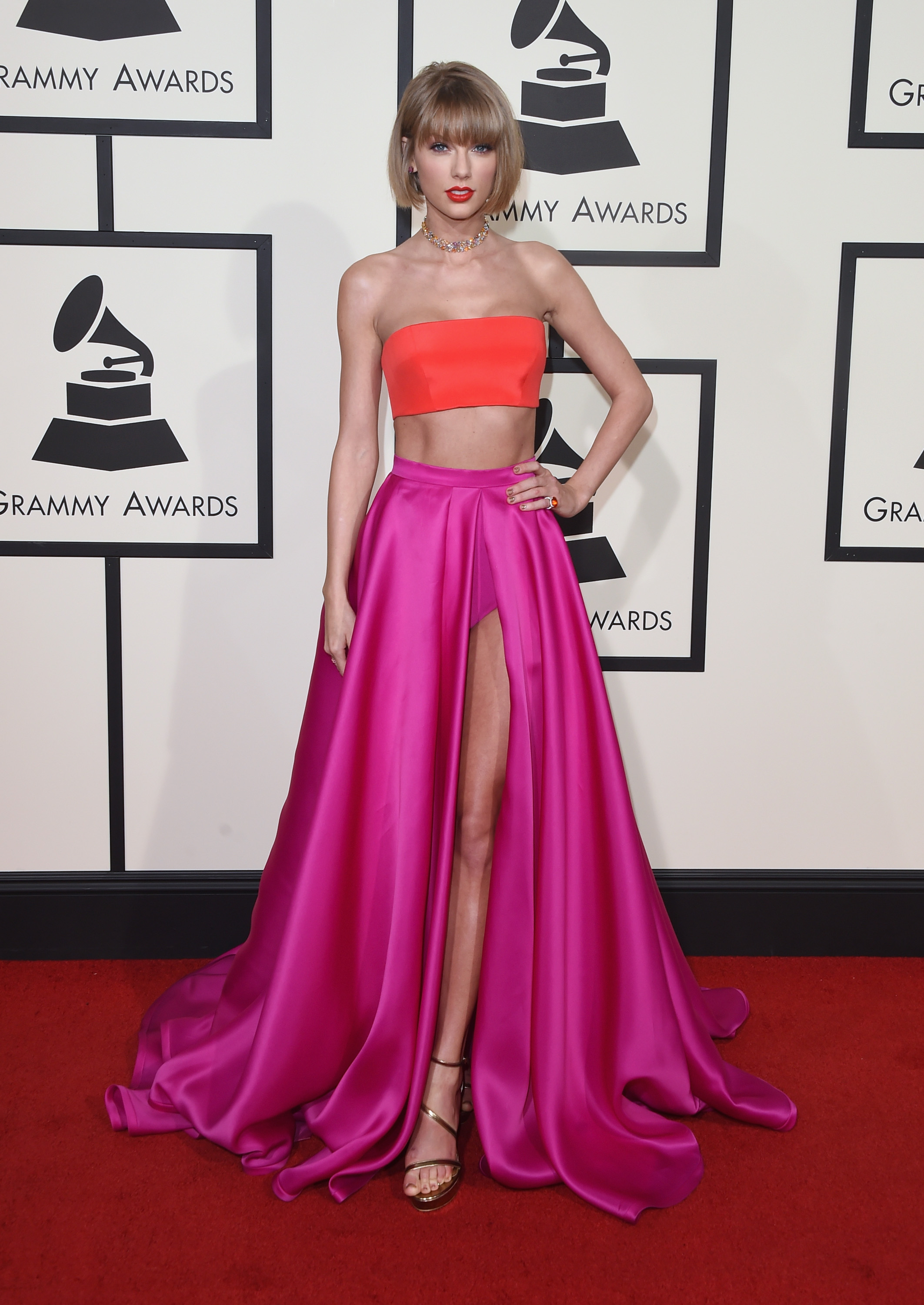 Taylor Swift's Grammys red carpet evolution, from 2008 until now