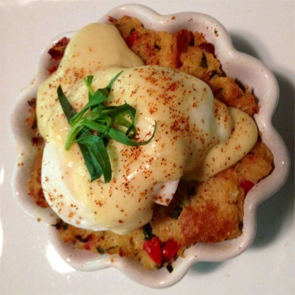 Savory Bacon and Crab Bread Pudding Eggs Benedict Jasper808
