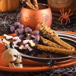 Spook-tacular Chocolate-Dipped Pretzels