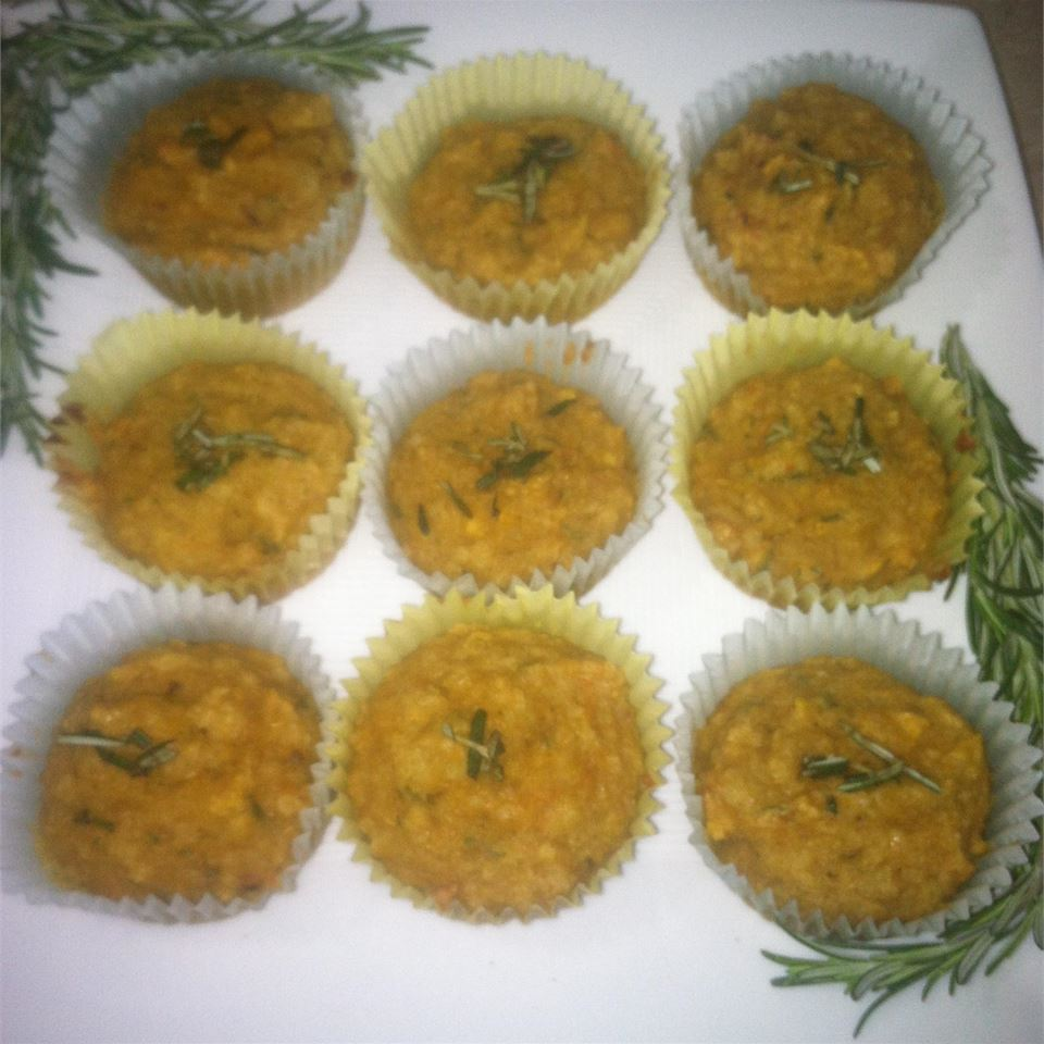Savory Lower-Carb Butternut Squash Muffins saarishalva