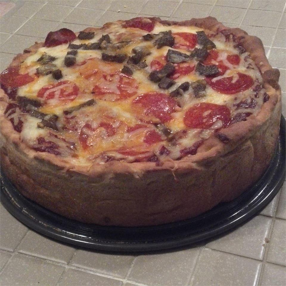 Double Crust Stuffed Pizza wilma