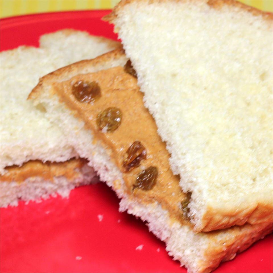 Cinnamon-Raisin Peanut Butter Sandwich Paula