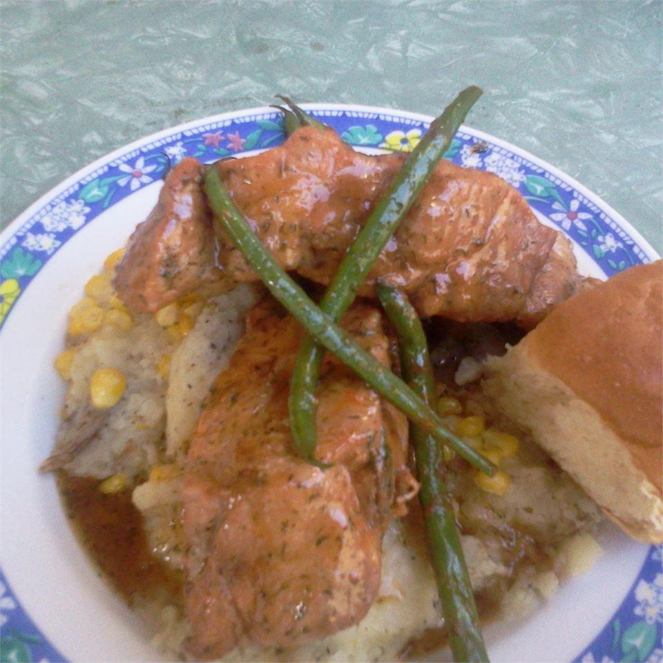 Dill and Honey Pork Chops