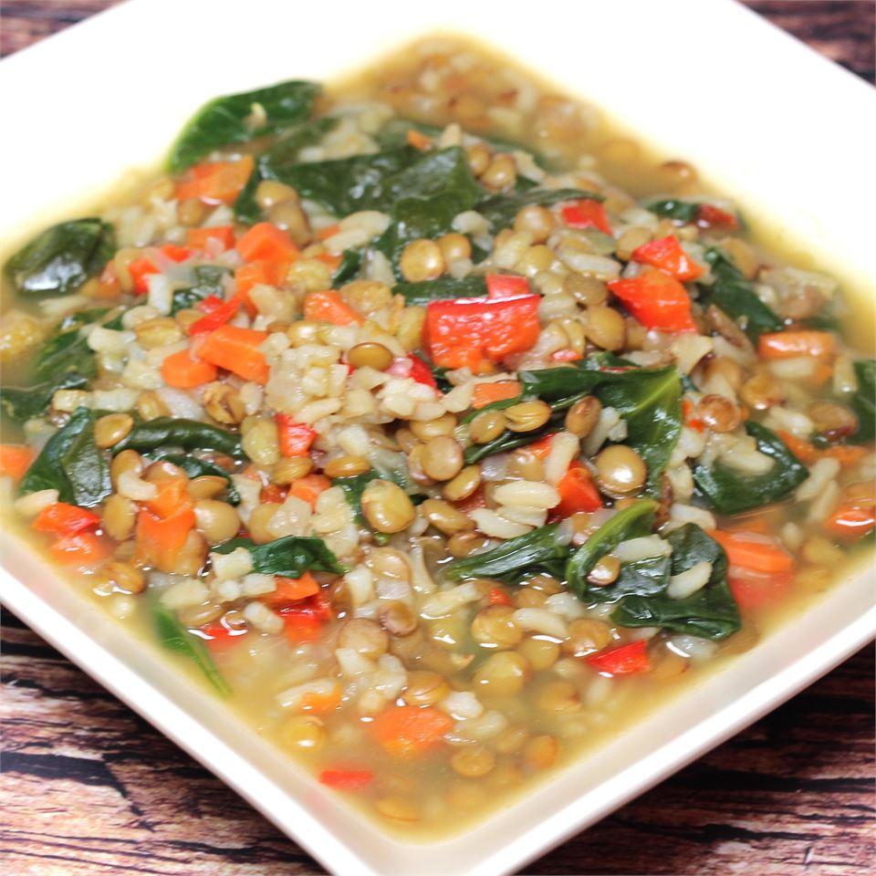 Spinach Lentil Soup Paula