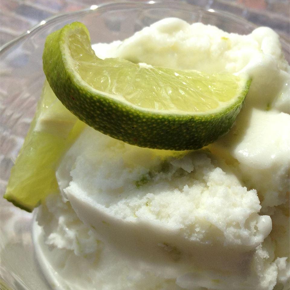 Coconut Lime Ice Cream - Automatic Ice Cream Maker Recipe
