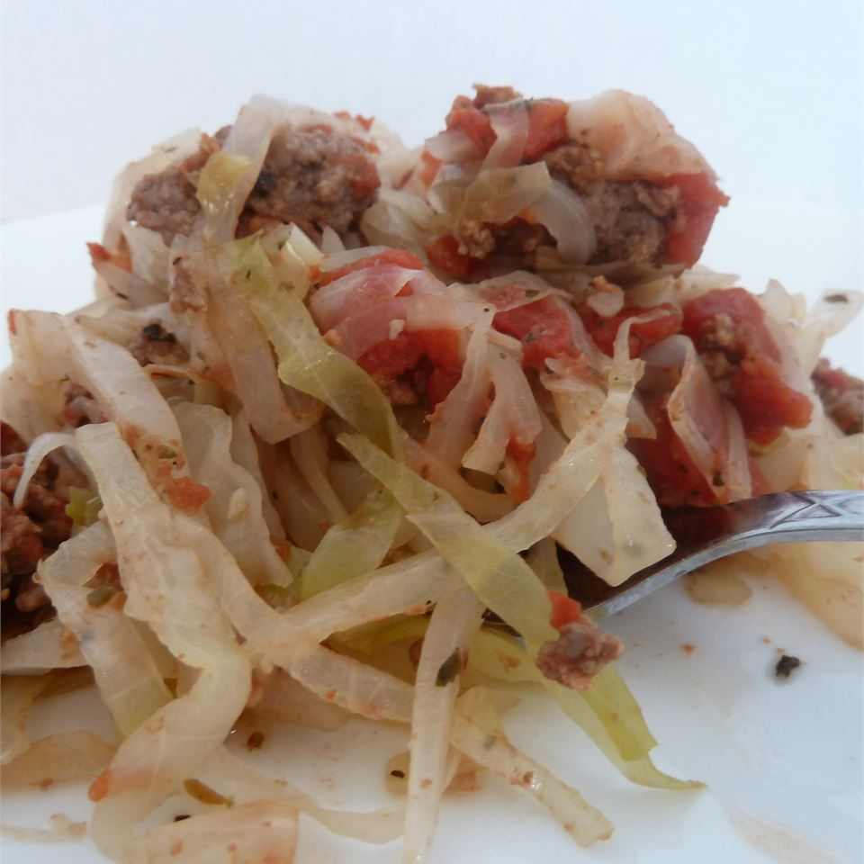 Ground Beef and Cabbage 2canes