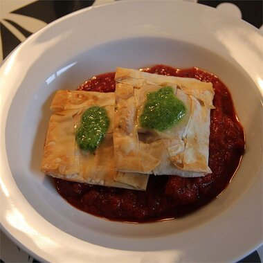 Sausage And Ricotta Ravioli With Pesto Sauce Recipe Allrecipes