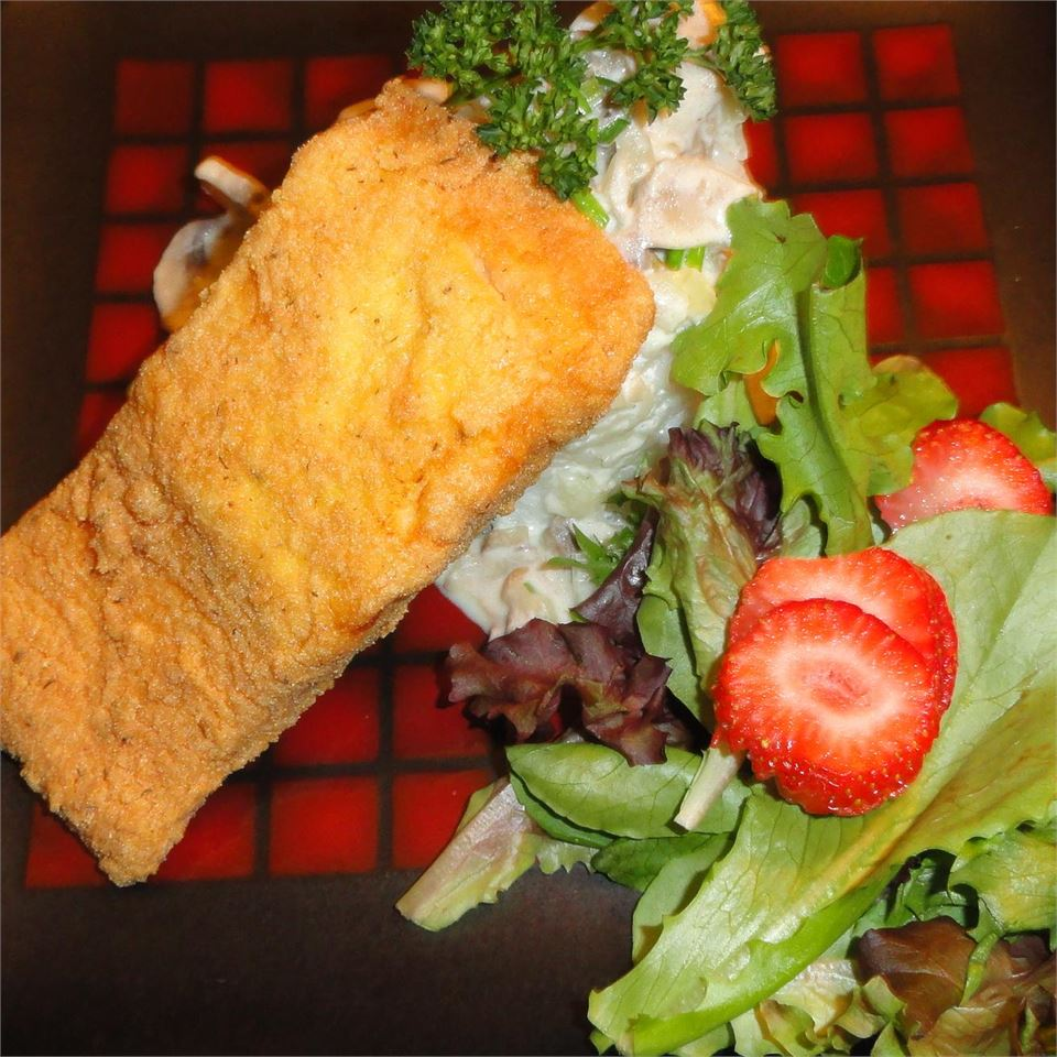 Breaded Pan-Fried Salmon