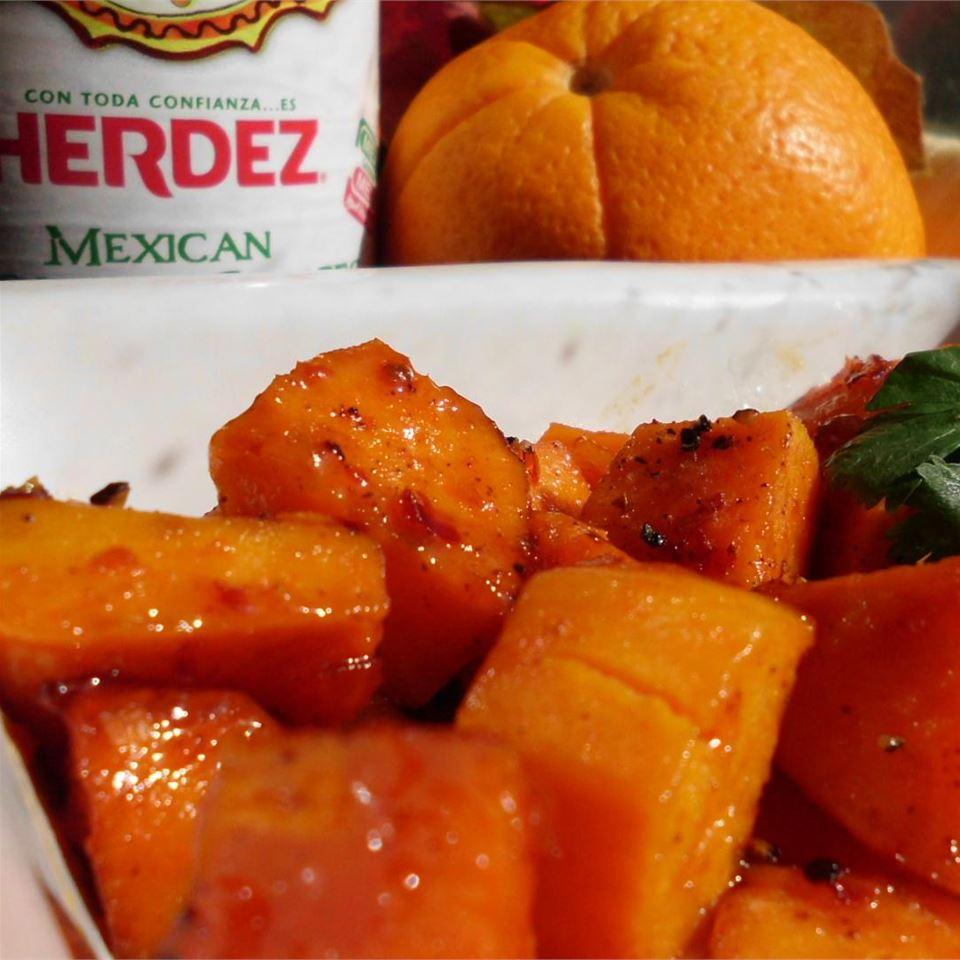 Orange-Guajillo Glazed Sweet Potatoes