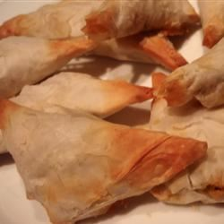 Phyllo Turnovers with Shrimp and Ricotta Filling ROYSAPER