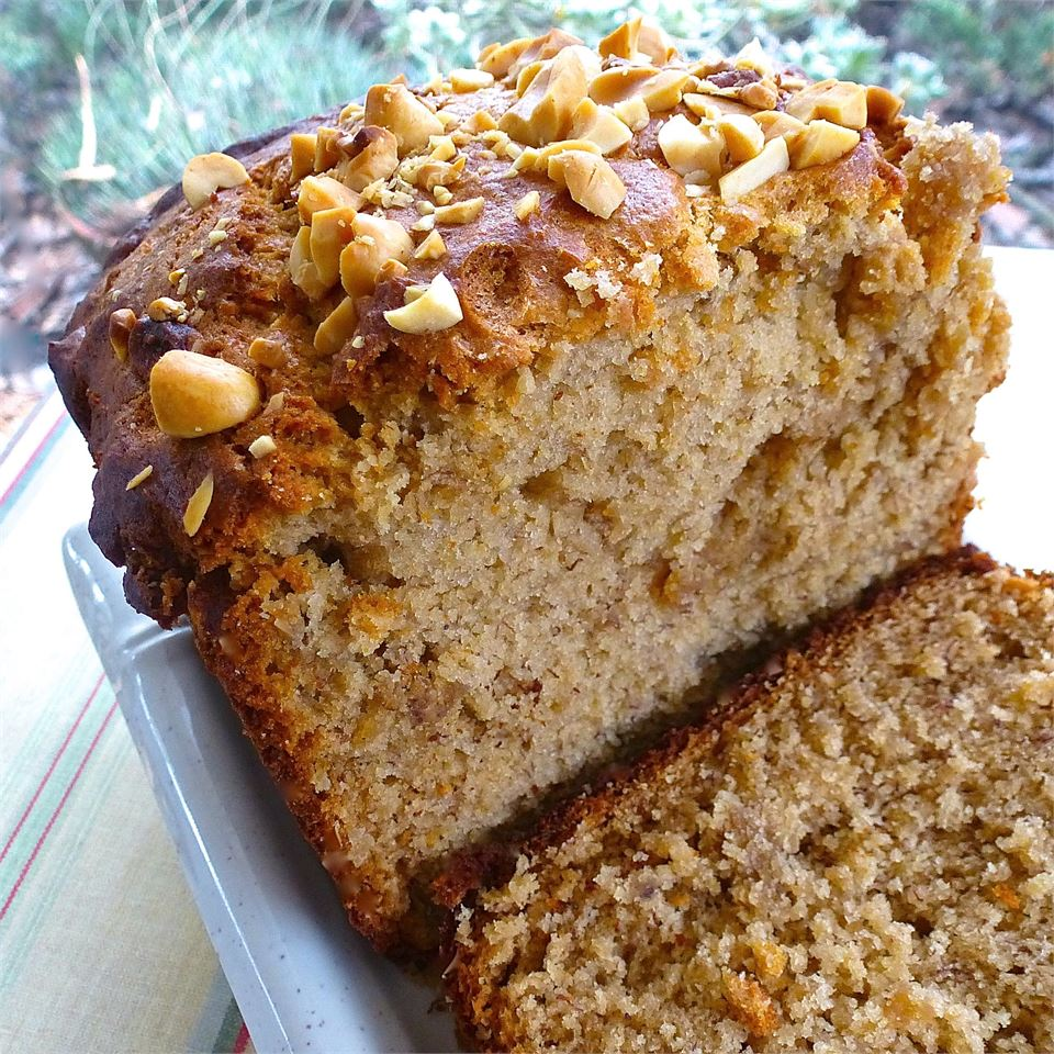 """""""Only deviation from the recipe was sprinkling a handful of chopped peanuts on the top of the batter before it went into the oven. Texture was more cake-like rather than traditional bread-like, but plenty moist and tasty."""" —lutzflcat"""