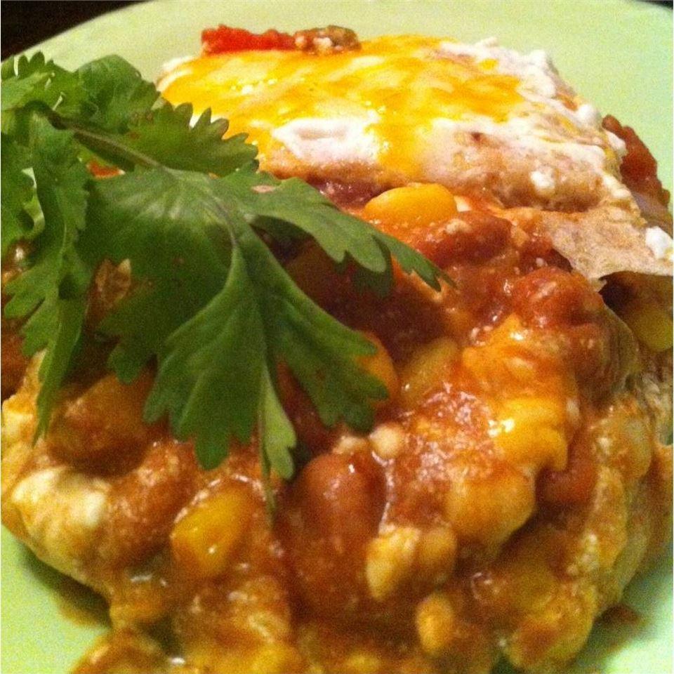 Veggie Mexican Layered Casserole