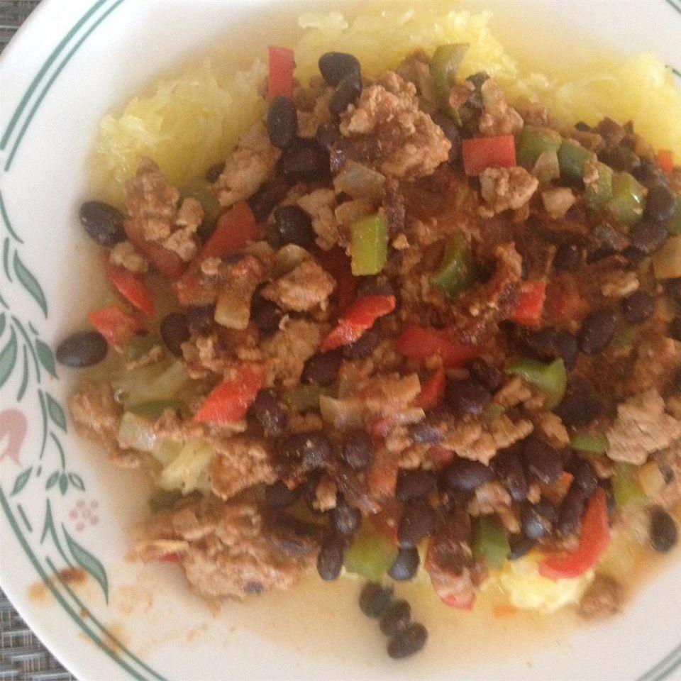 Mexican Spaghetti Squash Stir Fry Mrcaplette