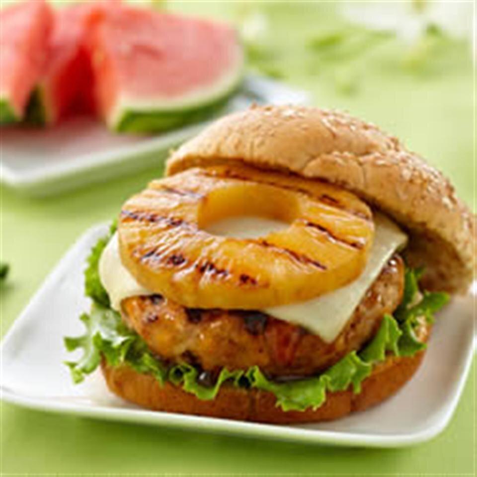 teriyaki pineapple turkey burgers from dole