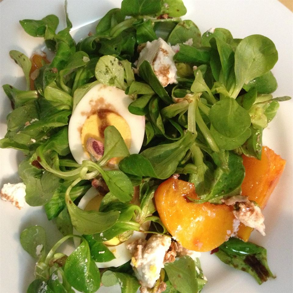 Roasted Beet, Peach and Goat Cheese Salad JOLIMONT