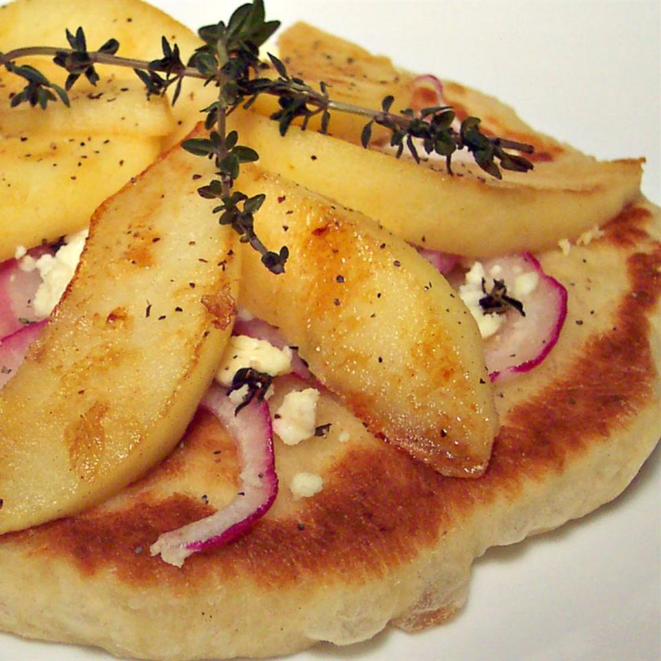Apple and Feta Pan Fried Pizzas Lillian