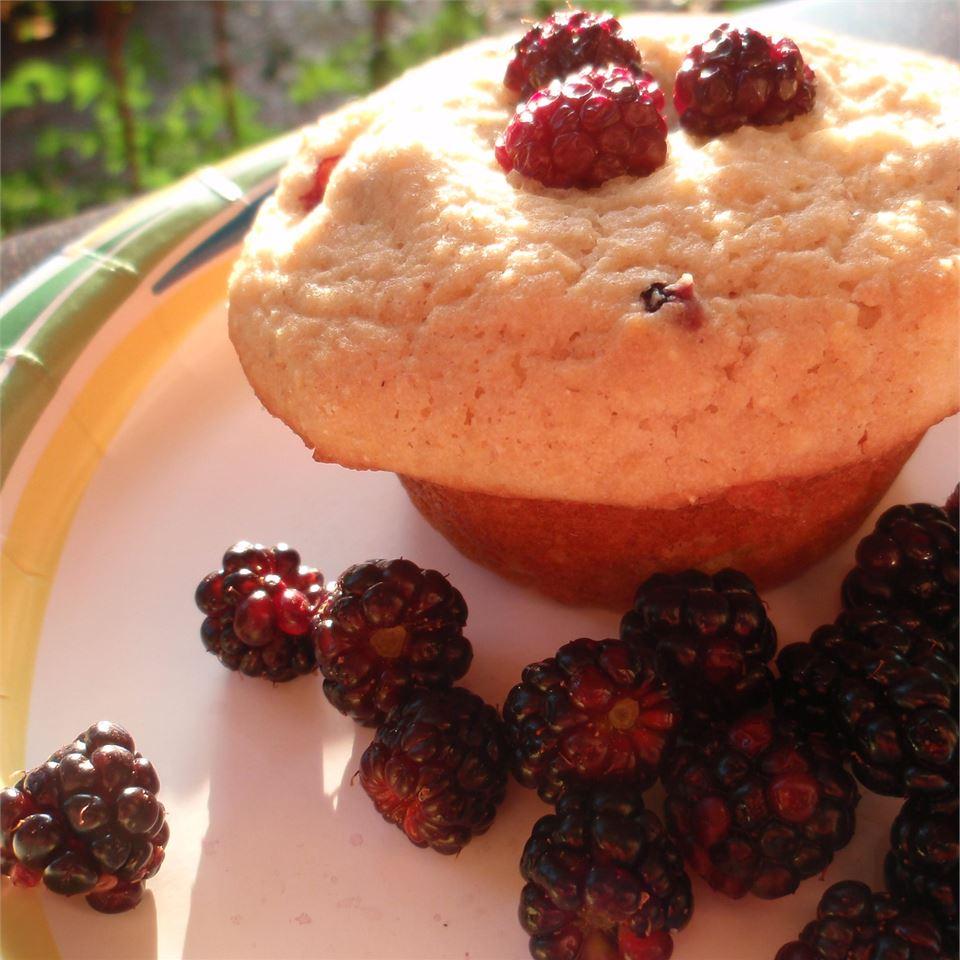 Delicious Gluten-Free Blueberry Corn Muffins sueb
