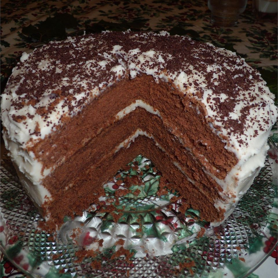 Chocolate Lizzie Cake with Caramel Filling NCwriter