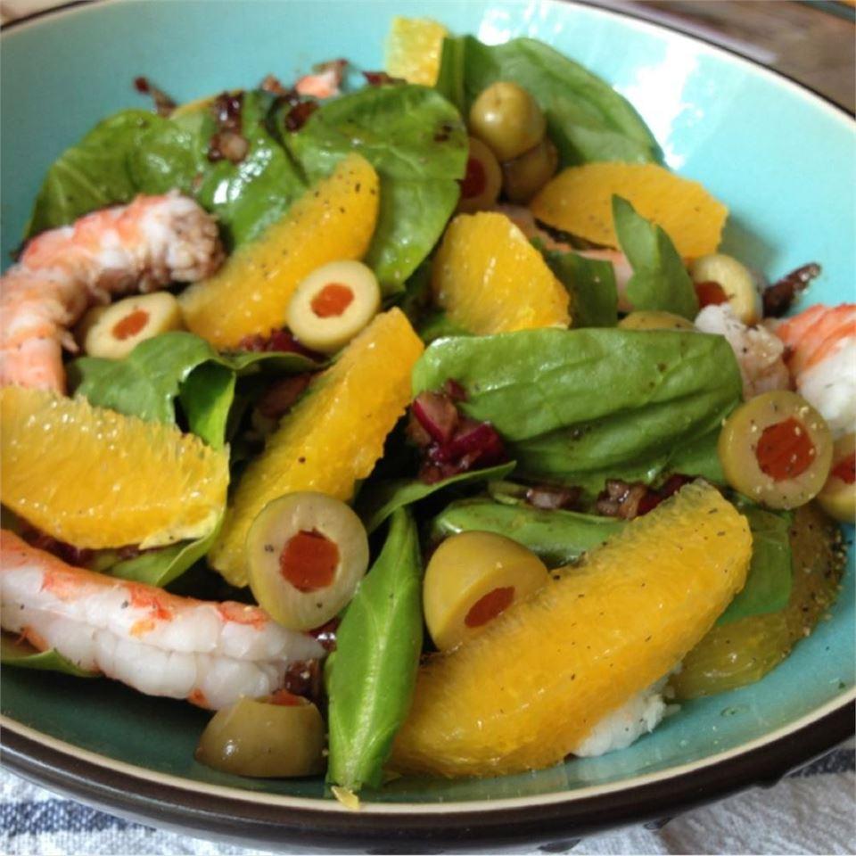 Orange Shrimp Spinach Salad