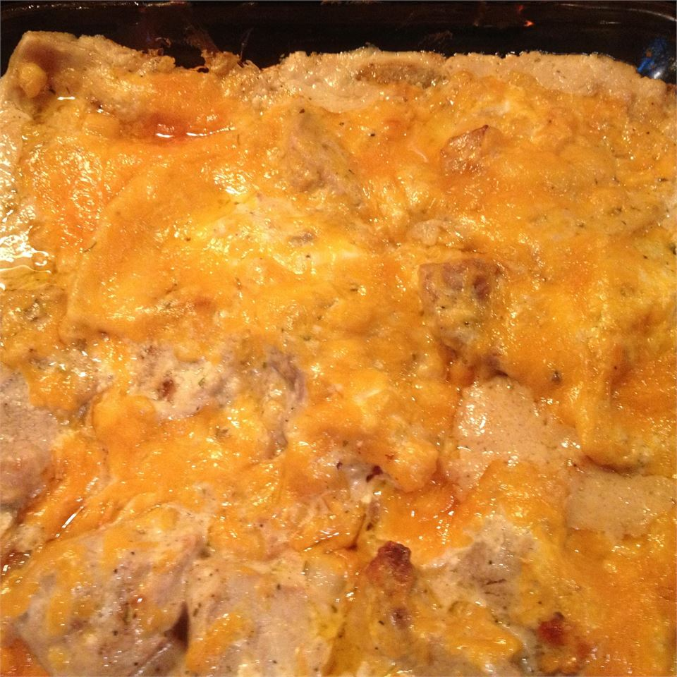 Momma Moots' Pork and Pierogies Casserole Stacy