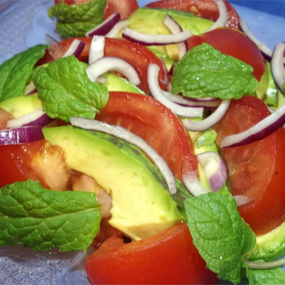 Persian-Style Tomato Avocado Salad BigShotsMom