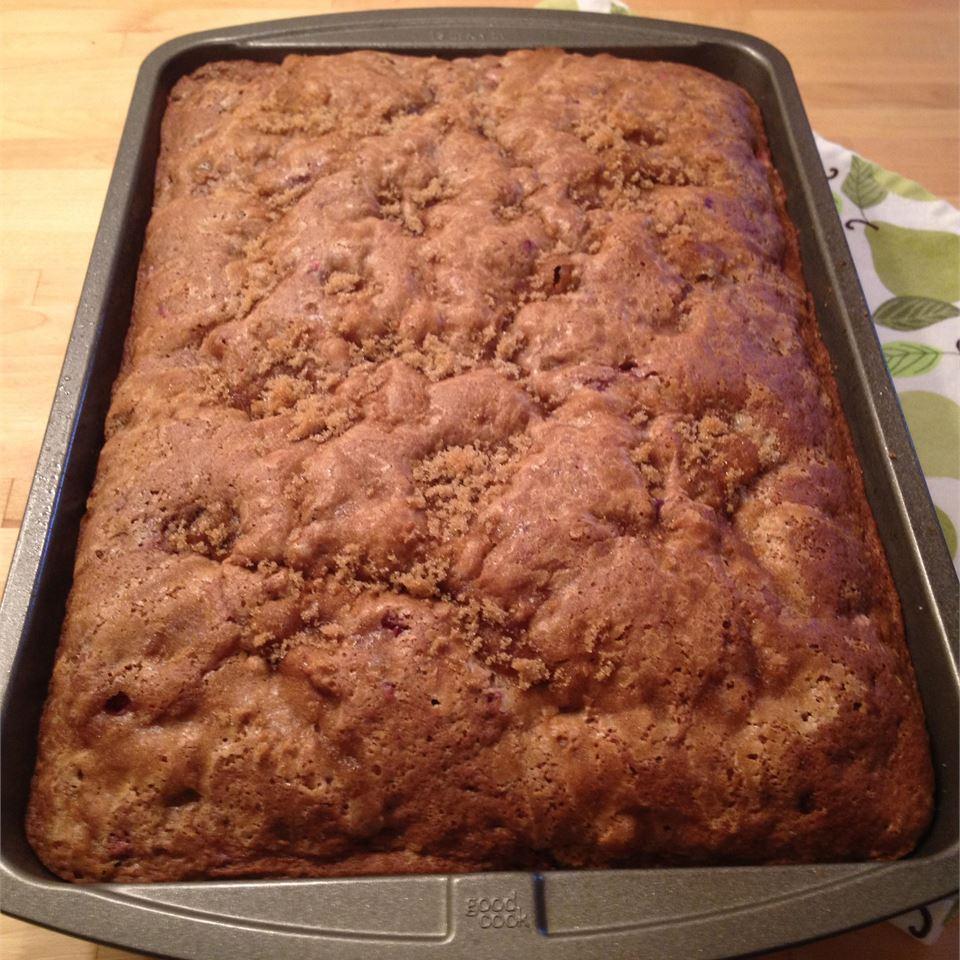 Grandma Moyer's Rhubarb and Strawberry Coffee Cake Julie333
