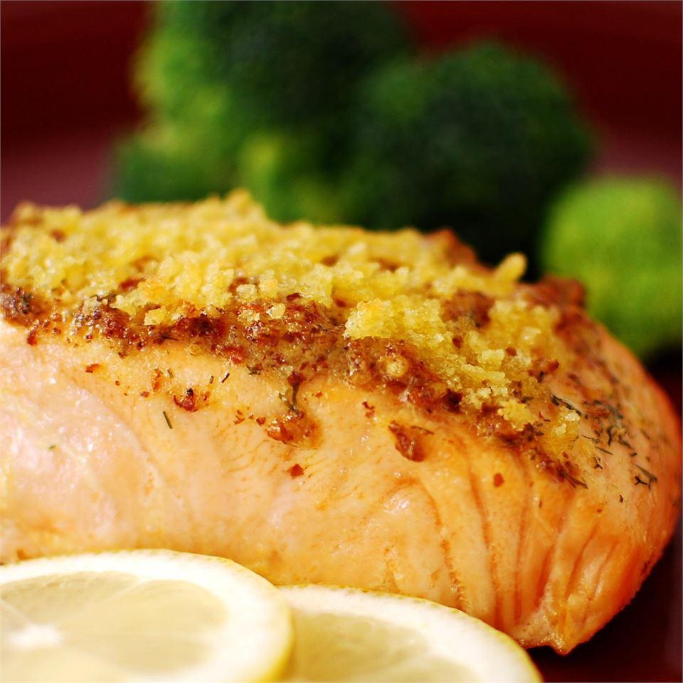 Baked Salmon Fillets Dijon
