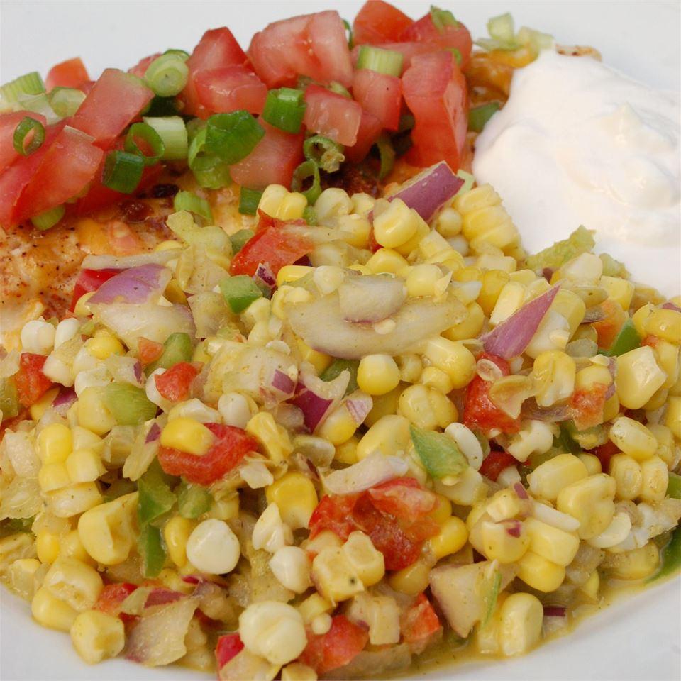 Southwestern Roasted Corn Salad LauraJean
