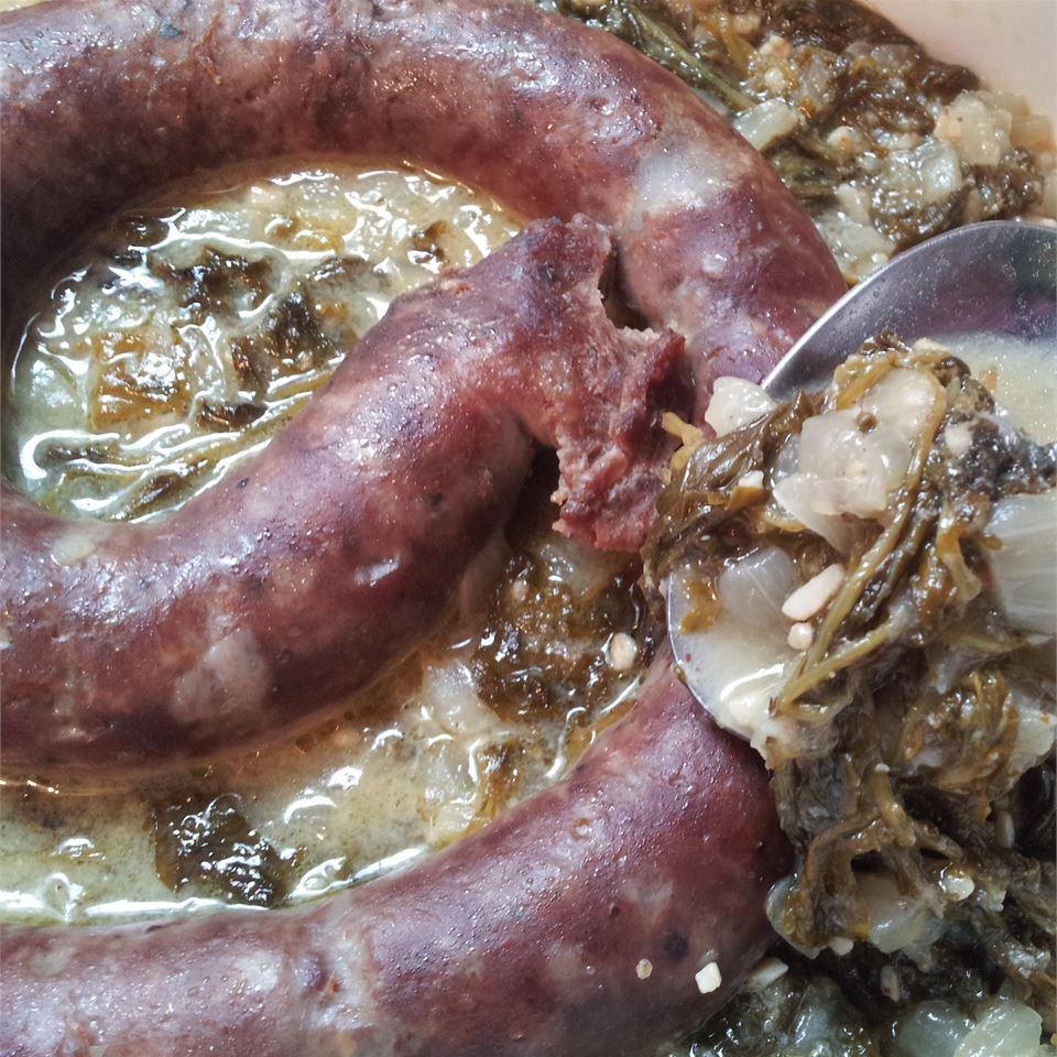 North German Gruenkohl (Kale) and Sausage WildGame84