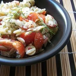 Orzo and Tomato Salad with Feta Cheese SunFlower