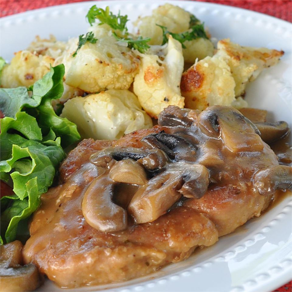 "A quick-and-easy Italian pork dinner with a simple wine sauce; it's ready in 30 minutes. ""An excellent dish,"" says Libby Glenn. ""I've never had Marsala as good in a restaurant! Very easy to make! Everyone at my house loves mushrooms, so I doubled the amount called for."""